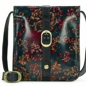 Crossbody Venezia Fall Tapestry Black Floral Pouch